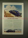 1941 Lincoln-Zephyr Car Ad - Look Out for Those Clouds!