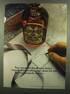 1974 Chivas Regal Scotch Ad - Never Thank Father Enough