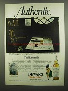1974 Dewar's White Label Scotch Ad - The Burns Table