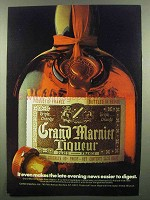 1974 Grand Marnier Liqueur Ad - Late Evening News