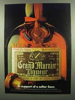 1974 Grand Marnier Liqueur Ad - Support of Softer Sour