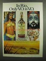 1974 Seagram's V.O. Whisky Ad - In Rio