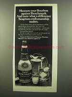 1974 Seagram's Benchmark Bourbon Ad - Measure Against
