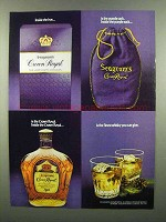 1974 Seagram's Crown Royal Ad - Inside the Box