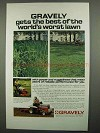 1974 Gravely 800-Series Riding Tractors Ad