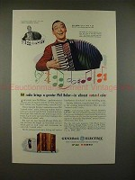 1945 GE FM Radio Ad w/ Phil Baker - Vibrant Color!!