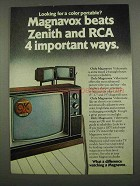 1974 Magnavox Videomatic TV Ad - Beats Zenith and RCA