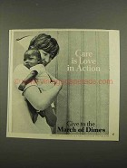 1974 March of Dimes Ad - Care is Love in Action