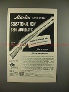1949 Marlin Model 88c Rifle Gun Ad - Sensational!!