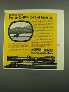 1974 Weaver Scopes Ad - See 40% More of America