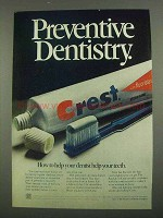 1974 Crest Tooth Paste Ad - Preventive Dentistry