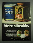 1974 Taster's Choice Coffee Ad - We're Alikeable