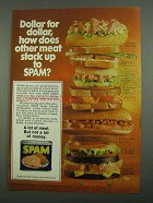 1974 Hormel SPAM Ad - Dollar for Dollar