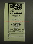 1974 T. Rowe Price Ad - Growth Stock Fund