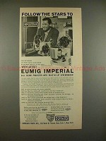 1960 Eumig Imperial Movie Projector Ad, William Holden!