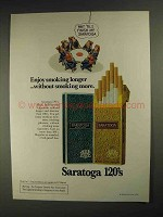 1975 Saratoga 120's Cigarettes Ad - Enjoy