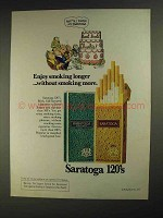 1975 Saratoga 120's Cigarettes Ad - Smoking