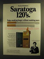 1975 Saratoga 120's Cigarettes Ad - Enjoy Smoking