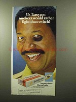 1975 Tareyton Cigarettes Ad - Fight