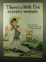 1975 Eve Cigarettes Ad - A Little in Every Woman