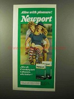 1975 Newport Cigarettes Ad - With Pleasure