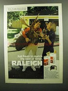 1975 Raleigh Cigarettes Ad - Full Flavor To Match