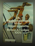1975 Benson & Hedges Cigarettes Ad - Disadvantages