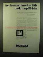 1975 Louisiana Department of Commerce Ad - GM's Lamp