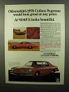 1975 Oldsmobile Cutlass Supreme Ad - At Any Price