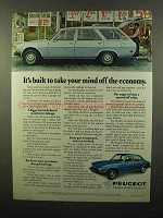 1975 Peugeot 504 Car Ad - Take Mind Off Economy