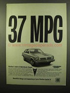 1975 Pontiac Astre S Notchback Coupe Ad - 37 MPG