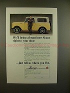 1964 International Harvester Scout Ad - Bring to Door!!
