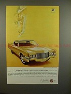 1970 Cadillac Coupe DeVille Car Ad - Masterful Approach