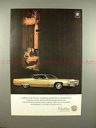 1969 Cadillac Coupe DeVille Car Ad - Rare Beauty!