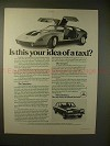 1977 Mercedes C111 Car Ad, Is This Your Idea of a Taxi?