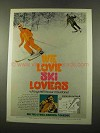 1975 Canada Tourism Ad - We Love Ski Lovers