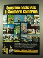1975 Southern California Ad - Sunshine Costs Less