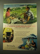 1975 Bermuda Tourism Ad - We Stopped to Picnic
