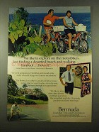 1975 Bermuda Tourism Ad - Explore on Motorbikes