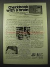 1975 Mostek CheckMaster Ad - Checkbook with Brain