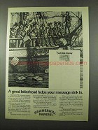 1975 Hammermill Papers Ad - East India Company