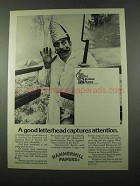 1975 Hammermill Papers Ad - Der Hessian Korps