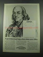1975 Hammermill Papers Ad - Benjamin Franklin