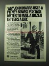 1975 Pitney Bowes Postage Meter Ad - John Marrs