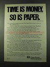 1975 Pitney Bowes Mailing Systems Ad - Time is Money