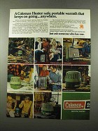 1975 Coleman Heaters Ad - Safe, Portable Warmth