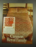 1975 Cannon Royal Family Shaker Patch Linens Ad