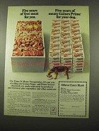 1975 Gaines Prime Dog Food Ad - Five Years Free Meat