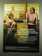 1975 Tide Detergent Ad - Hotpoint Packed a Free Coupon