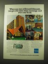 1975 American Express Ad - Stay at Howard Johnson's